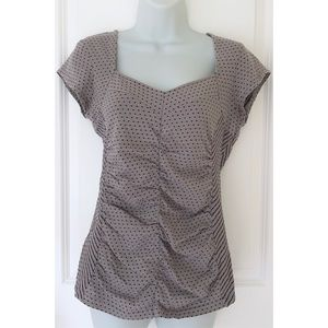 Anthro Postmark Gray Ruched Short Sleeve Top